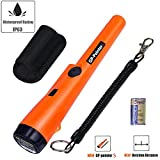 Pin Pointer Metal Detector, Hand-held Metal Detector 360° Scanning Unearthing Treasure Finder Buzzer Vibration with High Sensitivity