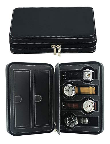 Luxury Leather Gift - Decorebay Travel Size Luxury Leather Watch and Jewelry Box Gift (Be Mine)