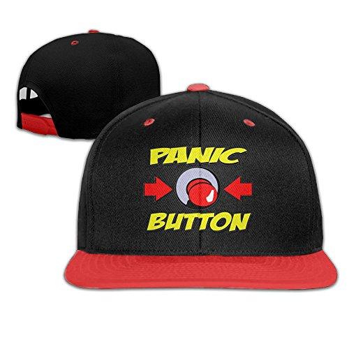 (Qiop Nee Kid's Hip Hop Baseball Cap and Hat Boys' Girls Panic Button)