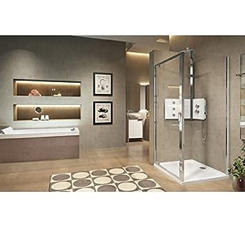 Lunes 2.0 F: paredes fijo lateral de ducha Novellini - blanco ...