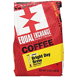 Equal Exchange Organic Ground Coffee, Bright Day Brew, 12-Ounce Bag (Pack of 3) 20 Contains 3 bags, 12 oz per bag (36 oz) TASTE: Organic Ground Bright & Lively Bright Day Brew with Balanced Flavors of Sweetness & Chocolate ROAST: Medium Roast Blend