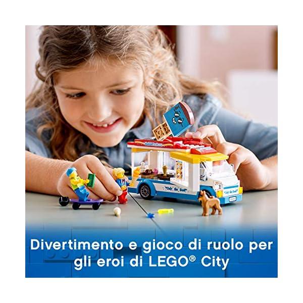 LEGO City Great Vehicles Furgone dei Gelati con 2 Minifigure e 1 Cane, Più 1 Serie di Accessori, Set di Costruzioni per… 2 spesavip