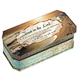 Proverbs 3:5-6 Trust in the Lord Footprints in the Sand Design Belle Papier Jewelry Music Musical Box Plays Song How Great Thou Art