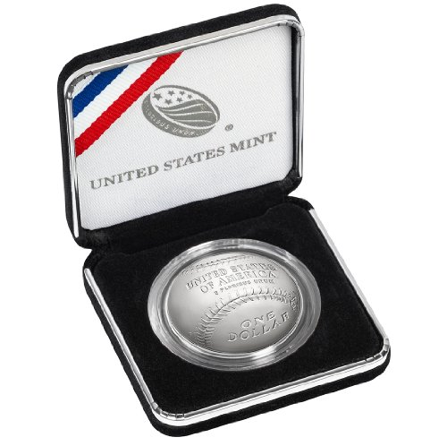 2014 P $1 Proof National Baseball Hall of Fame Silver Dollar, Box, OGP & COA US Mint