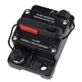 Circuit Breaker, Asixx DC12V-42V 50A-300A Audio Inline Circuit Breaker with Car Audio/Video Overload Protector (150A)