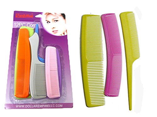 COMB 12PC ASST COLORS, Case of 144 by DollarItemDirect