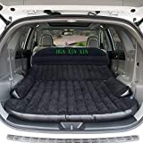 HUAXINXIN SUV Air Mattress Camping Bed,Outdoor SUV Dedicated Mobile Cushion Extended Travel Mattress Air Bed Inflatable for SUV Back Seat,Swimming Sea Beach,Holiday,Fit 95% SUV black ¡
