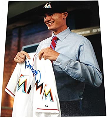 Andrew Heaney Signed 11x14 Photo Miami Marlins Autograph COA