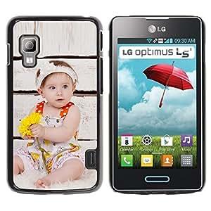 TopCaseStore / la caja del caucho duro de la cubierta de protección de la piel - Wonder Cute Kid Mother Love - LG Optimus L5 II Dual E455 E460