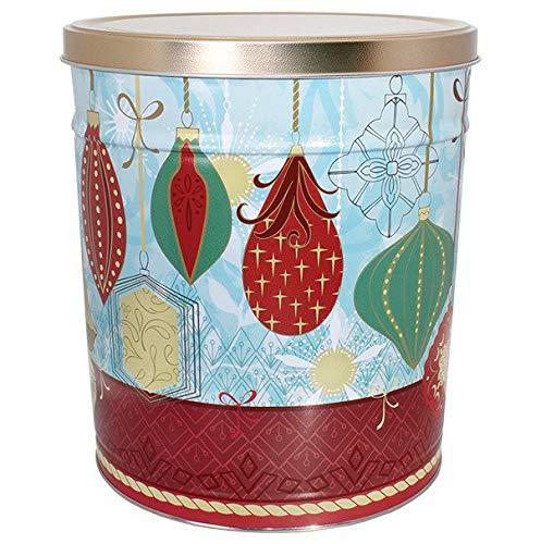 C.R. Frank Popcorn - Gourmet Popcorn Tin, 3.5 Gallon, Contemporary Ornaments (All Cheese) ()