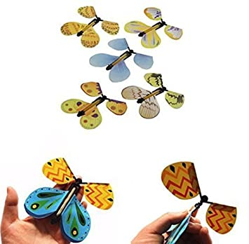 Urgrace 10pcs Magic Mariposas Volando Mariposa De Wind Up Toy Gran