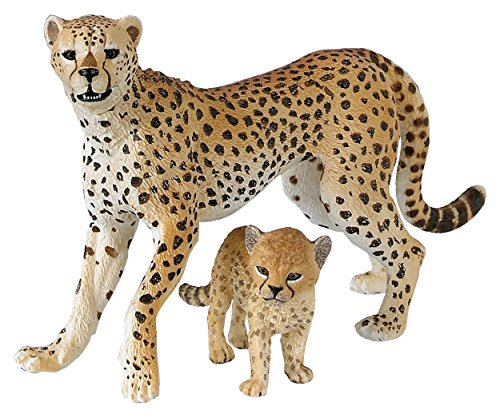 Papo Wild Animal Kingdom Figure, Cheetah with (Wild Animal Figure)