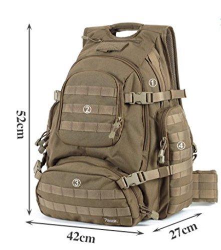 Sincere® Verpackung / Rucksäcke / Mobil / Ultra Noah taktische militärische Fans Camping Rucksack / Outdoor-Bereich Erweiterungskits-Tarnung 1 40L