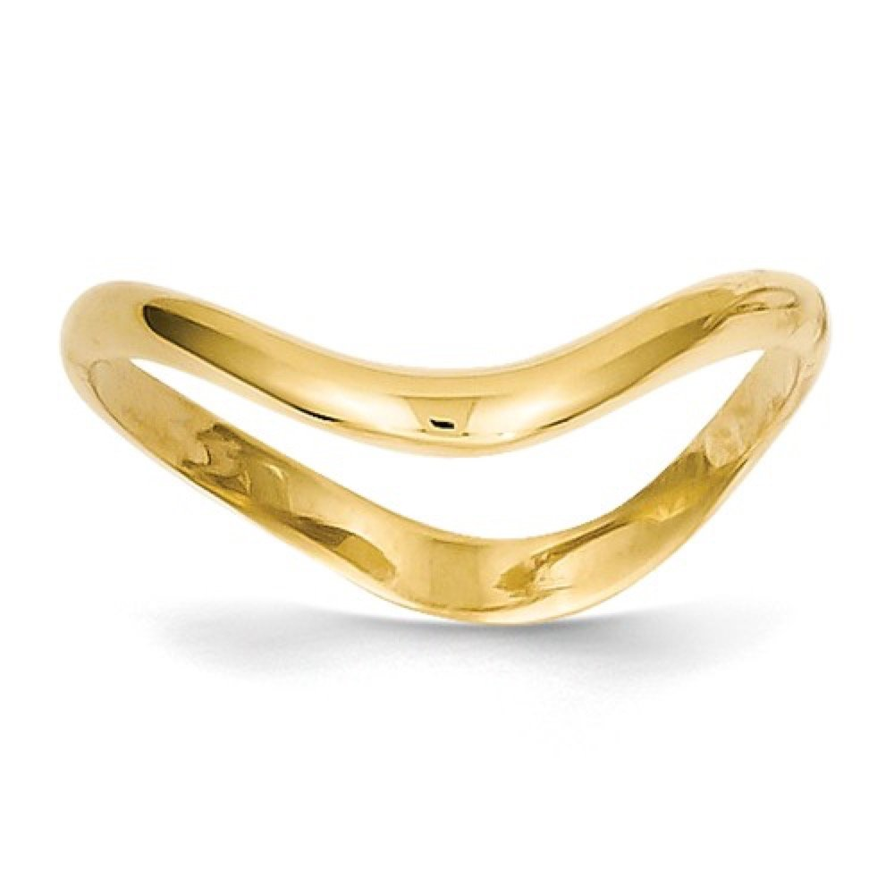 Roxx Fine Jewelry Thumb Ring 14K Yellow Gold 3mm Wave Stackable White and Rose Gold Available K4595
