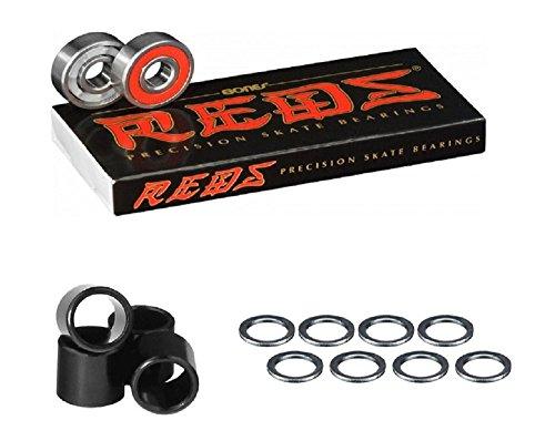 Bones Bearings Reds Bearings (8 pack W/Spacers and ()