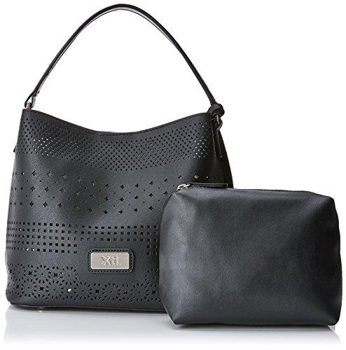 Negro H x 34x24x15 cm para Shopper XTI W L 85940 x Black Mujer 8nUzTwPqx