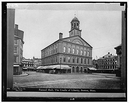 1936 Photo Faneuil Hall, Cradle of Liberty, Boston, Mass Location: Boston, - Location Faneuil Hall