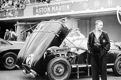 1950 Aston Martin DB2 in Paddock at 24 hours of Le Mans - Photo - Hours Paddock