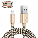 USB Cable Zeuste 3PACK 5.9Ft/1.8M Android Charger Usb Cable for Samsung,LG, Android Smartphones and More (Nylon Braided Cable)