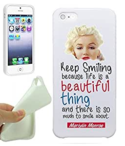 Keep Smiling Because Life is A Beautiful Thing Inspirational Quote Life Marilyn Monroe iphone 6 4.7 / iphone 6 4.7 Case Cover By NickyPrints. UNIQUE Designer Gloss Candy TPU Flexible Slim Case for iphone 6 4.7