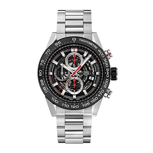 (Mens Tag heuer Carrera Calibre Heuer 01 Automatic Chronograph 45 MM CAR2A1W.BA0703)
