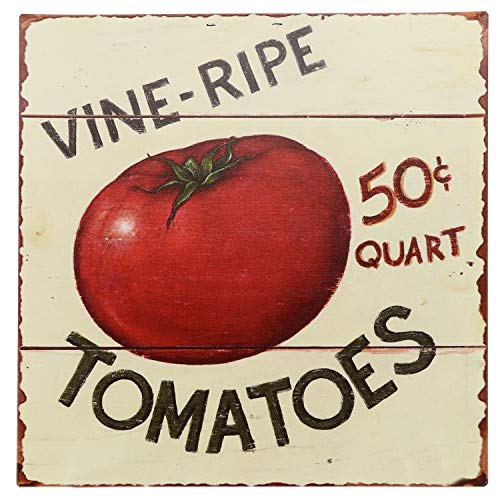 "Barnyard Designs Vine Ripe Tomatoes Retro Vintage Tin Bar Sign Country Home Decor 11"" x 11"" from Barnyard Designs"