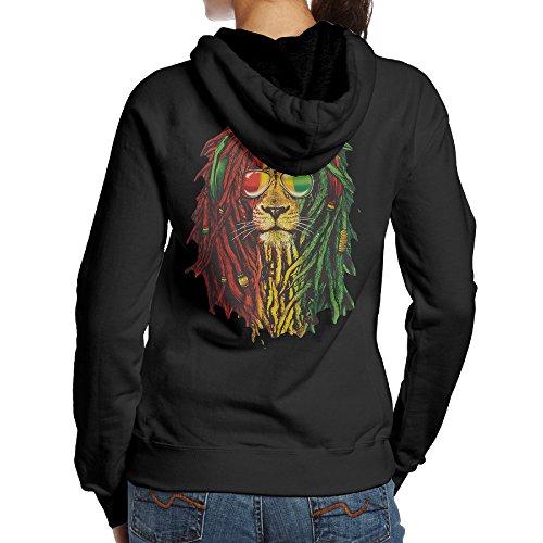 Costumes Pants Dance Lion (SBPZEB Lion Rasta Hair Jersey Women's Hoodie XL)