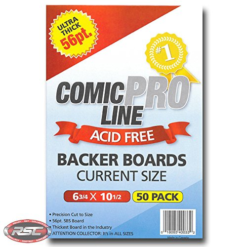 "Comic Pro Line Backer Boards Ultra Thick 56pt ""CURRENT"" Size Measures 6-3/4"" x 10-1/2"""