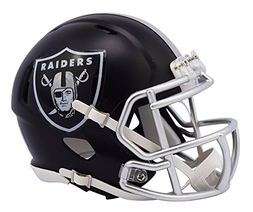 Nfl Raiders Helmet (NFL Oakland Raiders Alternate Blaze Speed Mini Helmet)