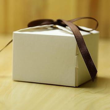 Papier Gastgeschenk Geschenkbox Schachtel Bonboniere Box mit Spitze 50 stk
