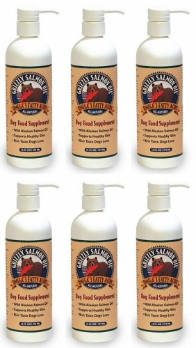 Grizzly Salmon Oil for Dogs 96oz (6 x 16oz) by Grizzly