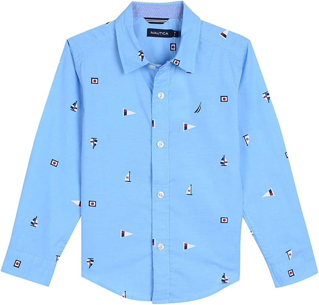 Nautica Toddler Boys Long Sleeve Printed Woven Shirt: Amazon.es: Ropa y accesorios
