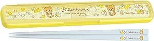 San-X Rilakkuma Chopsticks & Case Set Small Flower Pattern KY61201