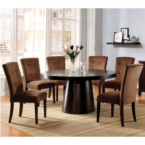 Havana Contemporary Style Espresso Finish 7- Piece Dining Set