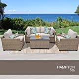 Hampton 5 Piece Outdoor Wicker Patio Furniture Set 05b Review
