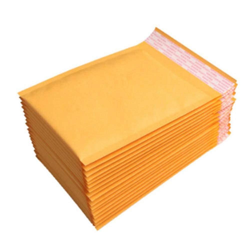 YouPei® Buste per cataloghi Kraft Marrone Dorato - Progettate per la spedizione sicura - Buste per Buccia e per guarnizioni di Grandi Dimensioni con Carta Kraft - Buste da 10 Buste