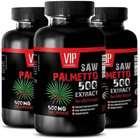 prostate support supplement - SAW PALMETTO 500 EXTRACT - saw palmetto 500mg - 3 Bottles 300 Capsules