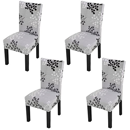 YISUN Dining Chair Slipcovers,[Scenery series] Stretch Removable Washable Dining Chair Protector Cover Seat Slipcover Hotel,Dining Room,Ceremony,Banquet Wedding Party (4, S07)