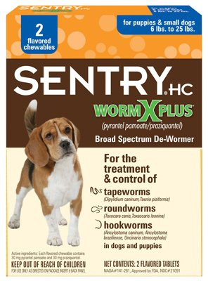 Sergeant's Pet Products 2CT SM Dog WormX Plus