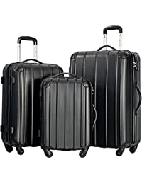 Travelhouse Mixed Color 3 Piece Spinner Luggage Set with TSA Lock
