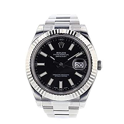 Rolex Datejust II 41mm Steel Black Dial Men's Watch 116334