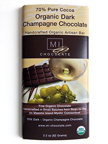 MI Chocolate Organic 70% Dark Champagne Chocolate Bar