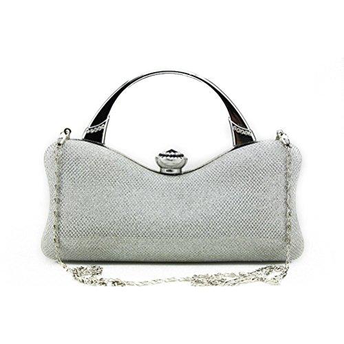Women Handbag Evening Sardin Purse Silver Colorful Fenical Wallet Silver Party Party Clutch Wedding qU5Rwdv