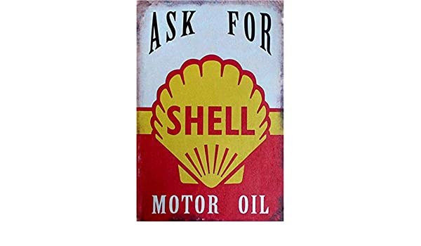 Man Cave Easy Painter Shell Oil Vintage Metal Sign Motor Oil, Tin Signs Funny Gasoline Can Old Style Garage Bar Retro Decorative Signs
