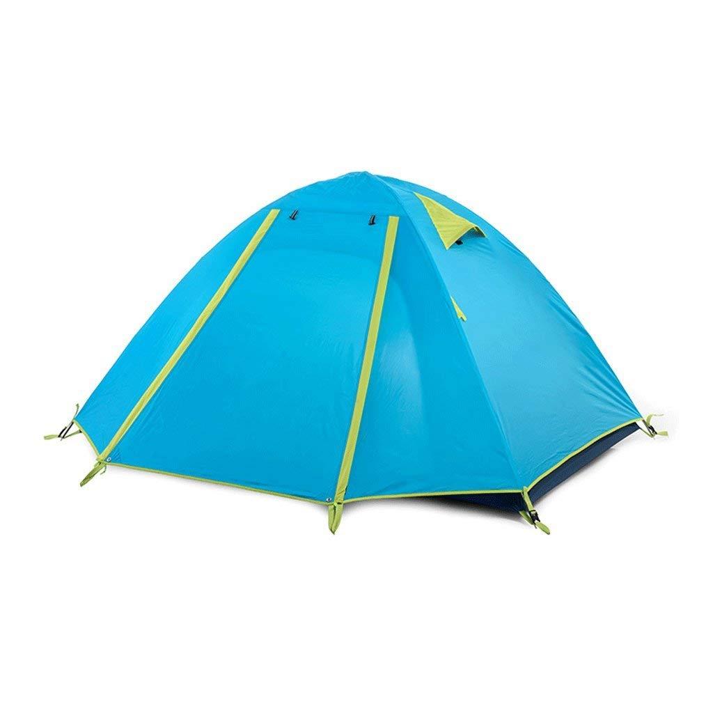 WENYAO Tentes Tente Double Extérieure, Tente Aluminium Camping Tige Légère, Système de Support Foyer pour Tente Dôme 4 Personnes (Couleur  Bleu) bleu -