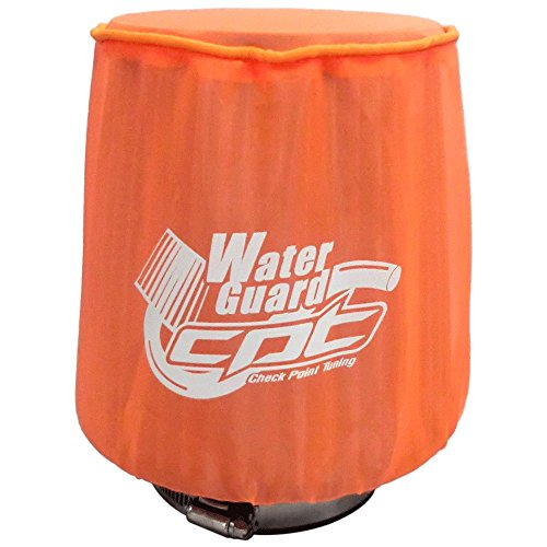 "CPT Universal Water Guard Short Ram Cold Air Intake Pre-Filter Air Filter Cover CPT-WG-M-OR (Medium 5.50""Wx6.75""H, Neon Orange)"