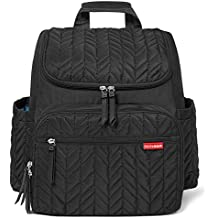 Skip Hop Forma Travel Carry All Diaper Backpack with Insulated Bag, One Size, Jet Black