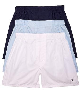 Polo Ralph Fit Boxers Lauren Woven Cotton Classic PackMNavy 3 dCxWrBoe