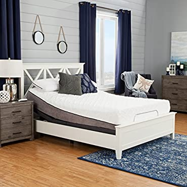 Sleep Zone Pacifica 12 Queen-size Memory Foam Mattress and Adjustable Bed Set