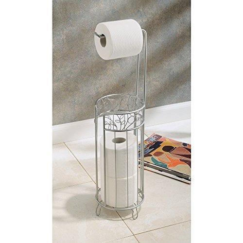Interdesign twigz free standing toilet paper roll holder for bathroom storage ebay - Interdesign toilet paper holder ...